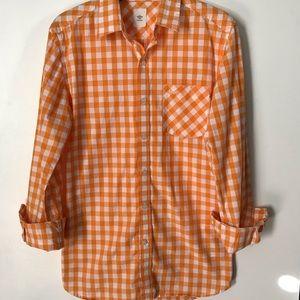 Tennessee orange gingham buttondown